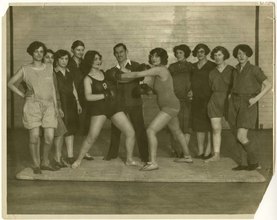 Not exactly TPR, but close. Girls Boxing Class at the YMHA of Washington Heights, c. 1920., courtesy of the American Jewish Historical Society. Digitized by the Gruss Lipper Digital Laboratory at the Center for Jewish History - www.cjh.org