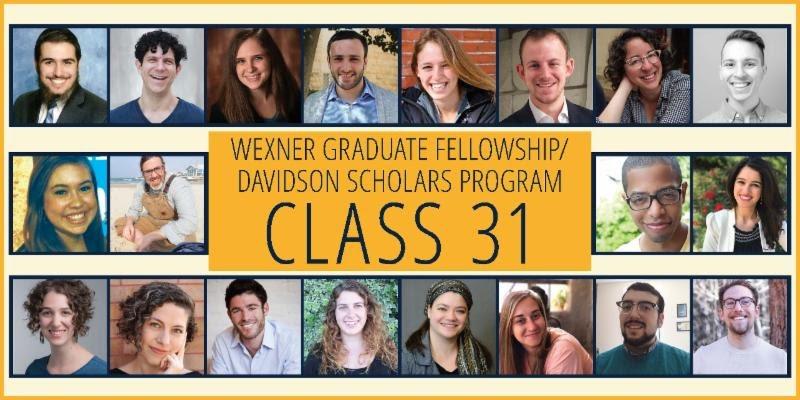 Meet the Wexner Graduate Fellowship/Davidson Scholars Program Newest Class